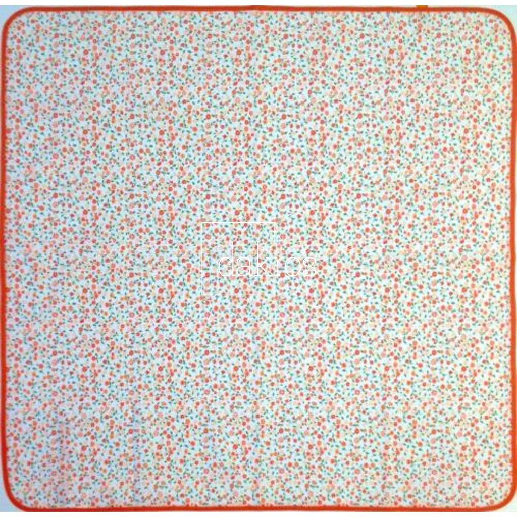 Ubrus květy oranžové drobné