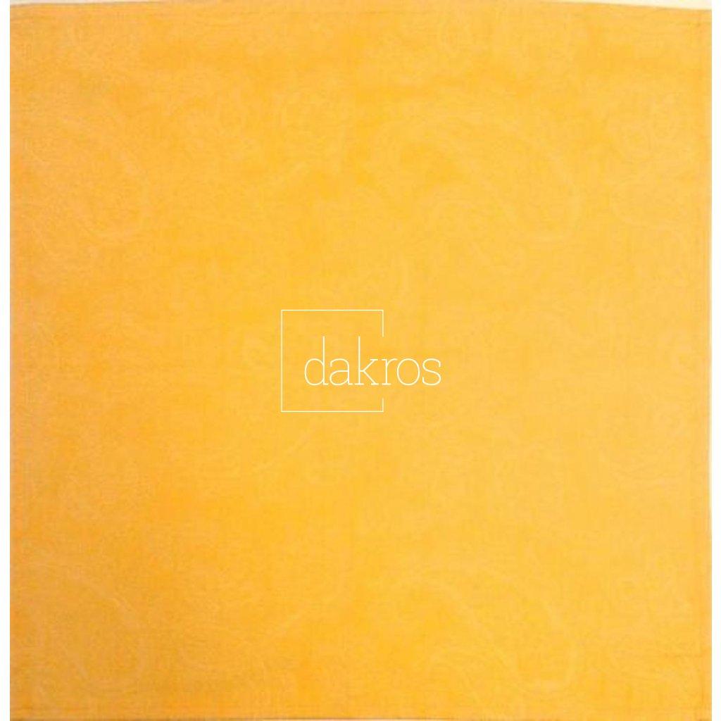 Prostírání žakárové žluté - kašmír