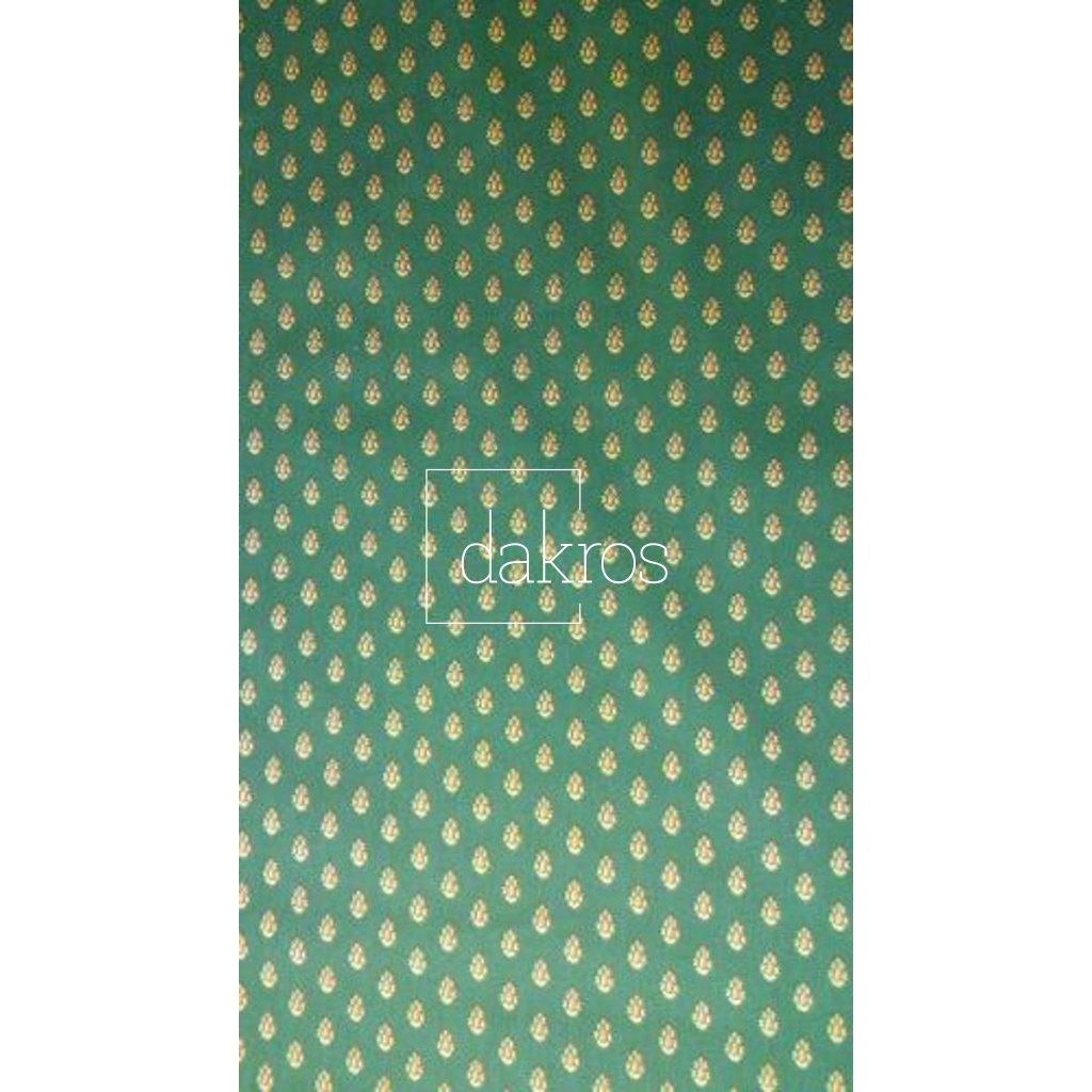 Bavlna Slunečnice pruhy zelené základ