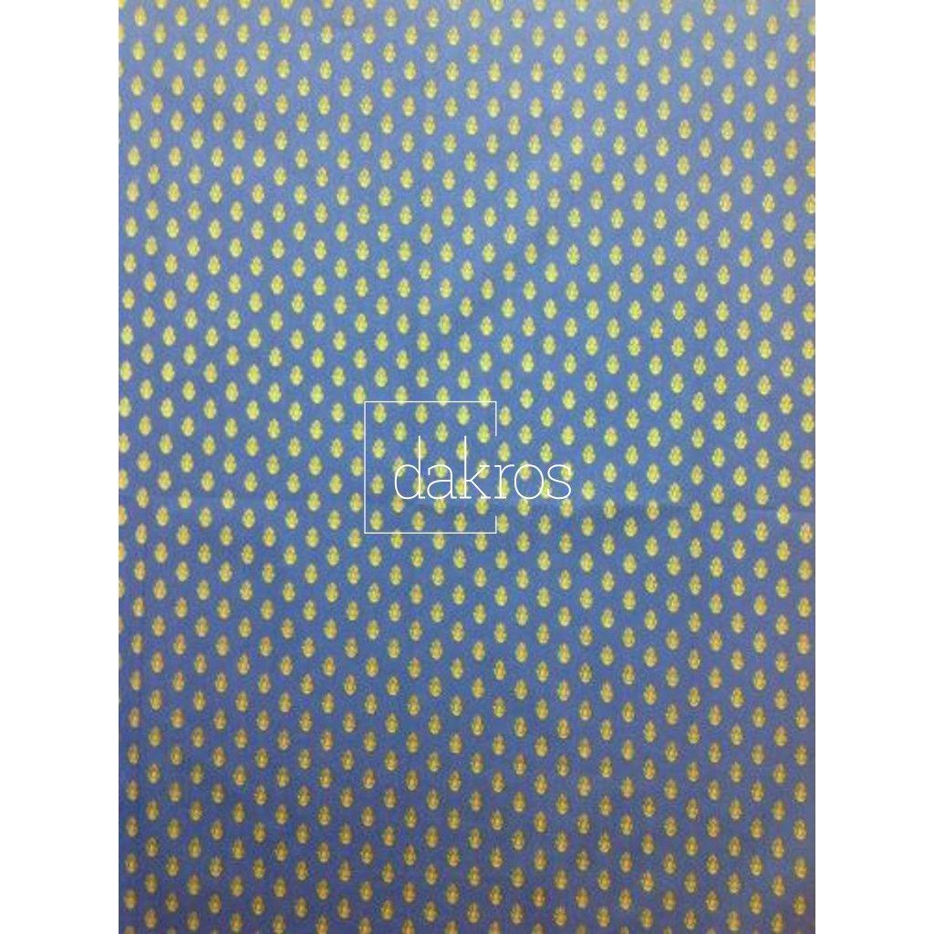 Bavlna Slunečnice pruhy modré základ