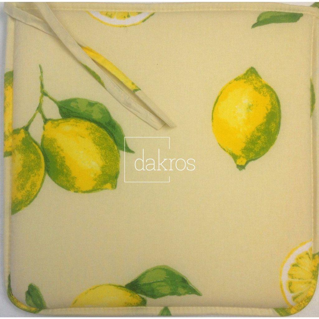 Sedák na židle citron béž