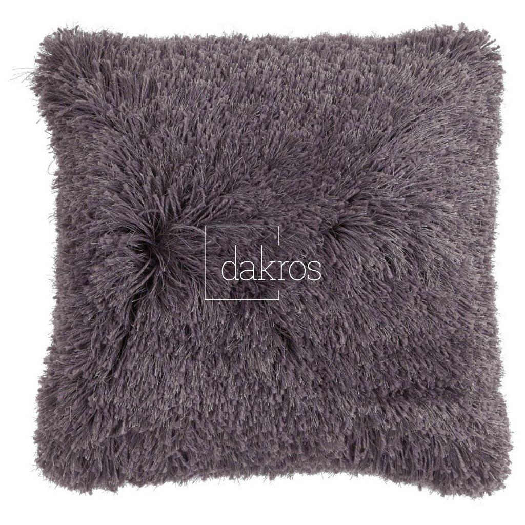 Polštář Multi fluffy tmavě šedý