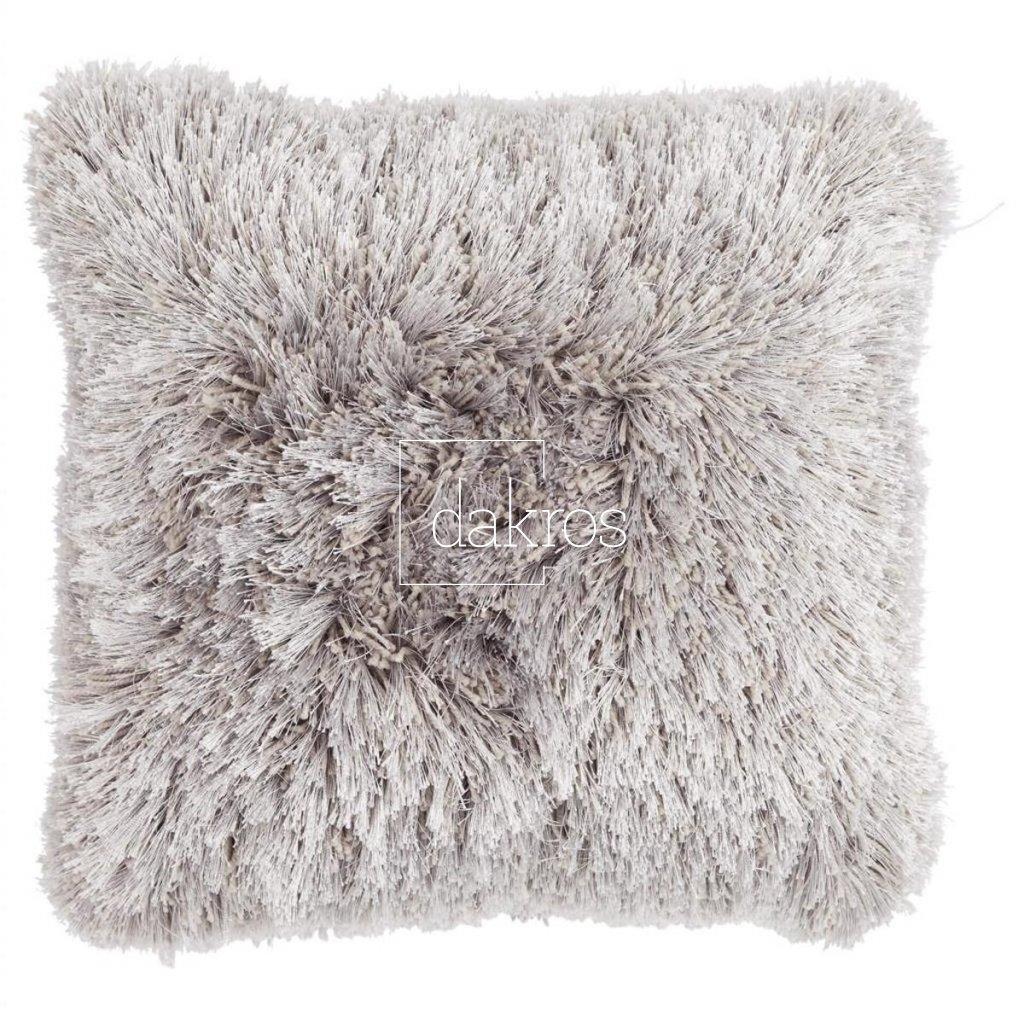 Polštář Multi fluffy světle šedý