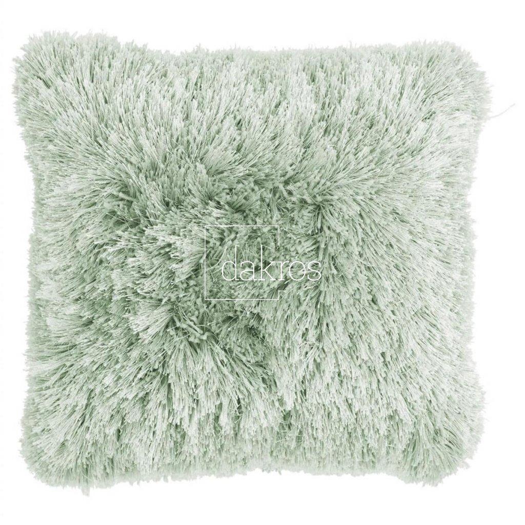 Polštář Multi fluffy mrazivá zelená