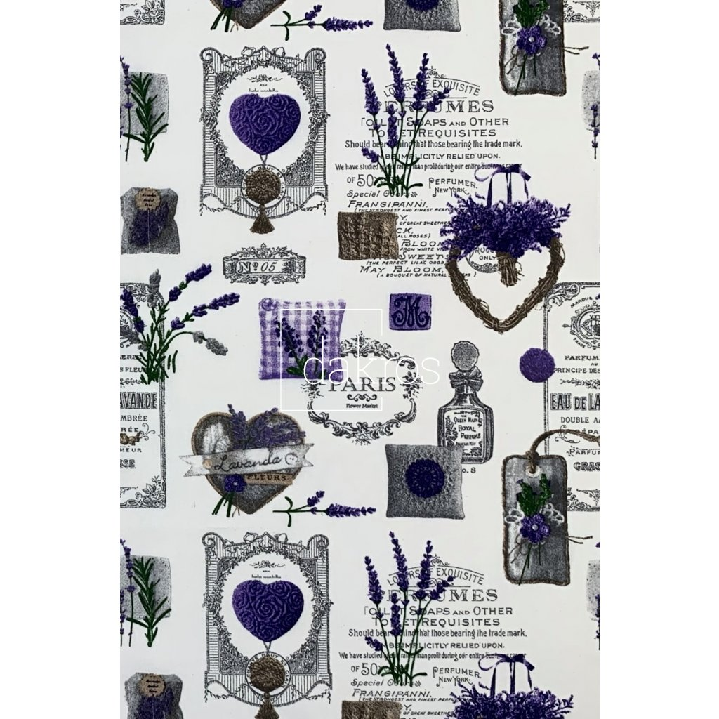 Bavlna Levandule Provence II