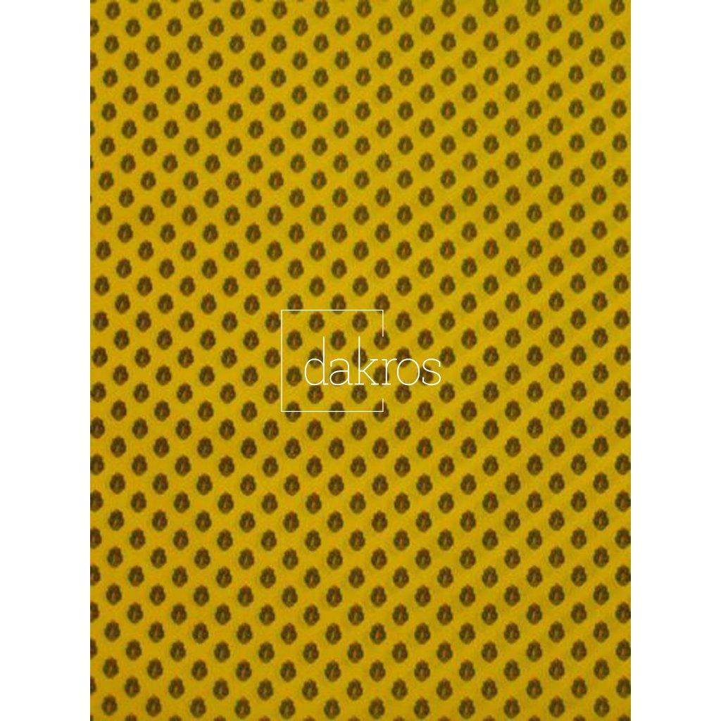 Bavlna Slunečnice pruhy žluté základ
