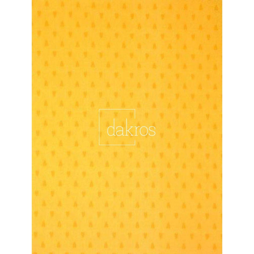 Bavlna Levandule žlutá pruh základ