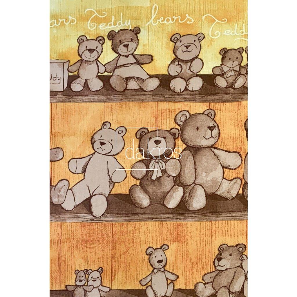 Bavlna Bears žlutý