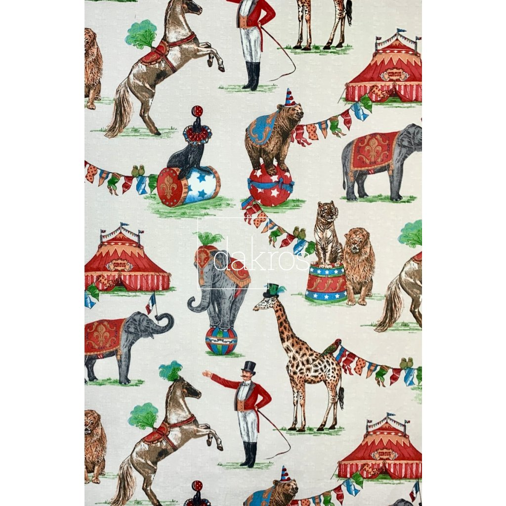 Bavlna se zvířátky v cirkuse