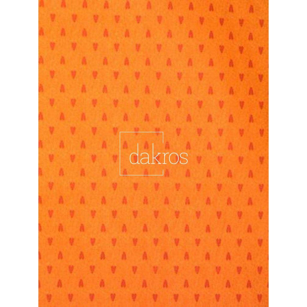 Bavlna Levandule oranžová pruh základ