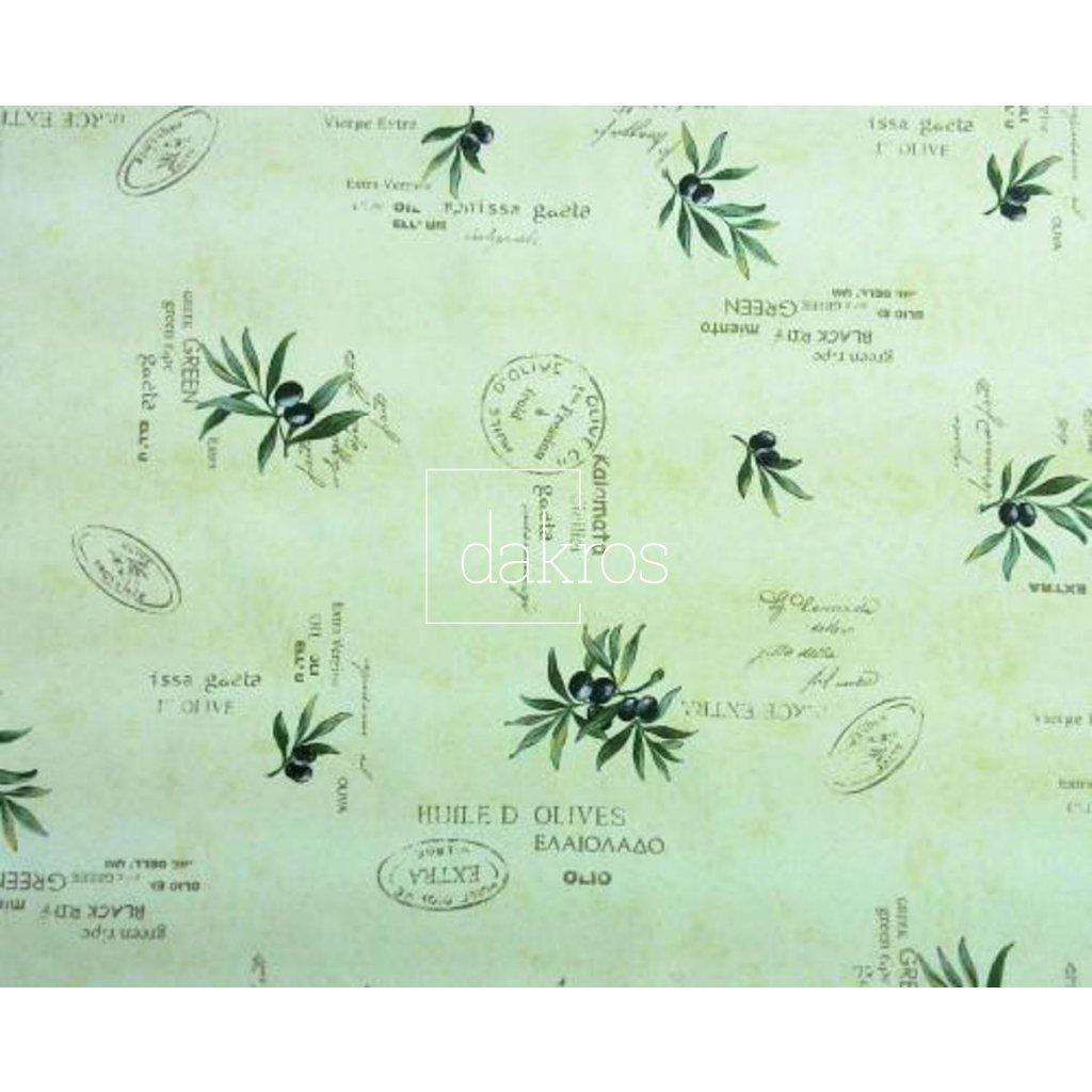 Bavlna Olivy béž nápisy coordonát