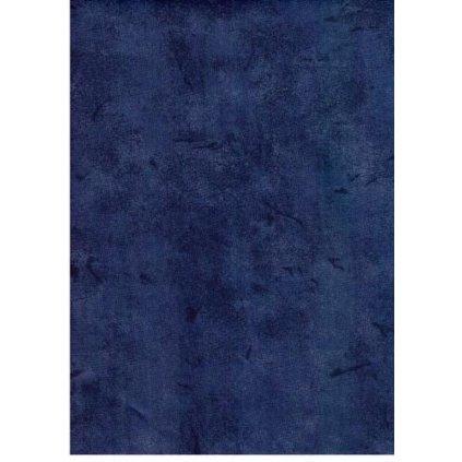 Bavlna jednobarevná temě modrá