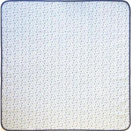 Ubrus květy modré drobné rozměr 70 x 70 cm, 100% Bavlna