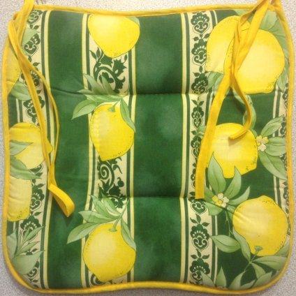 Sedák na židle citron zelený