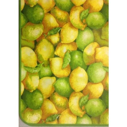 Ubrus citrony s teflonovou úpravou ve více rozměrech, lemovaný šikmím proužkem, 100% bavlna