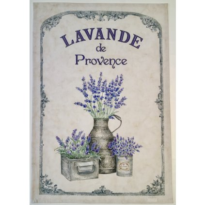 Utěrky provence s levandulí, rozměr 47 x 70 cm, 100% Bavlna