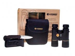 Fomei 10x42 Diplomat + lovecký nůž Mikov  + LED svítilna + doprava zdarma