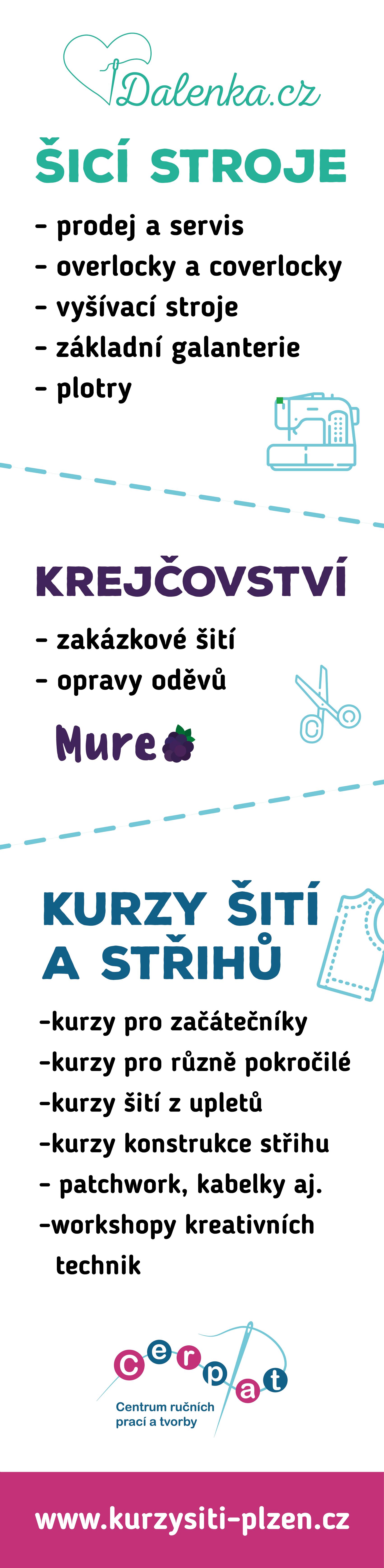 Dalenka.cz Kurzy šití Plzeň