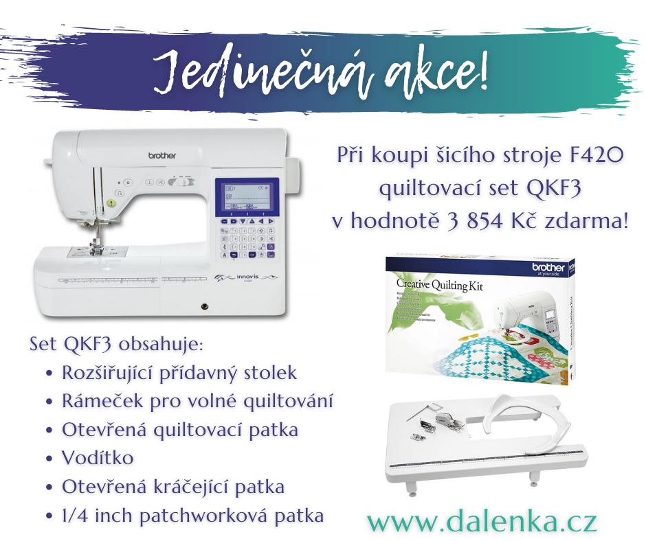 Akce F420 - quilt set QKF3 zdarma