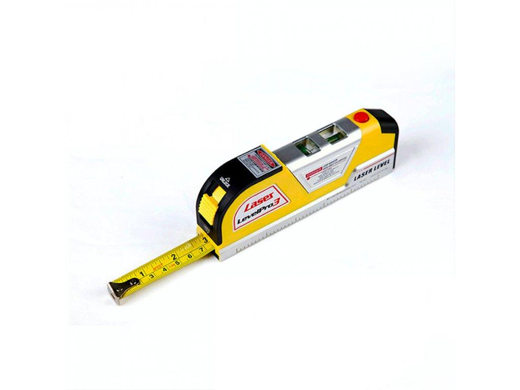 Laserová vodováha s metrem