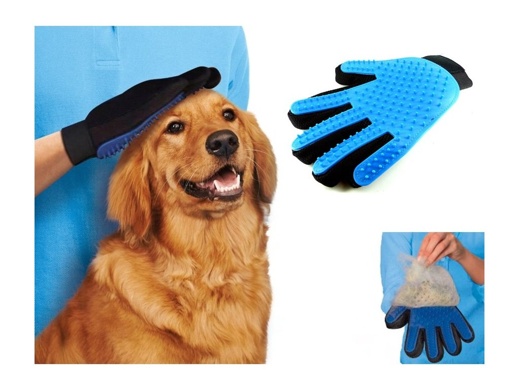 Vyčesávací rukavice pro psy