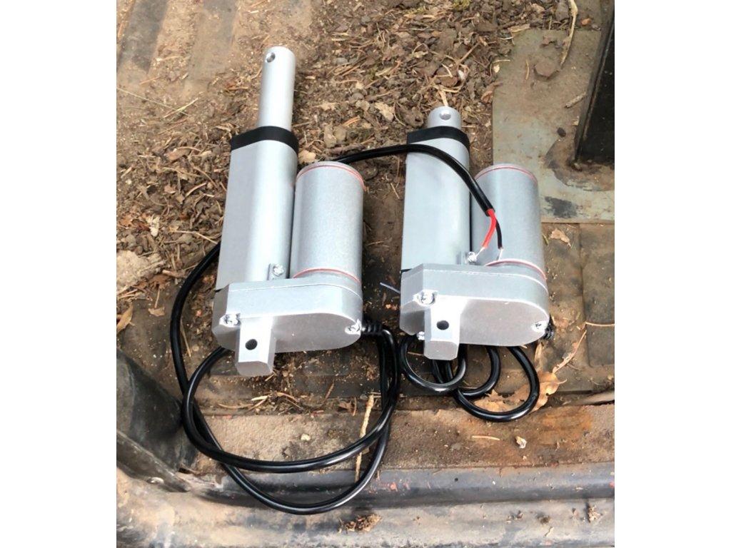Lineární motor (pohon) pro regulaci plynu