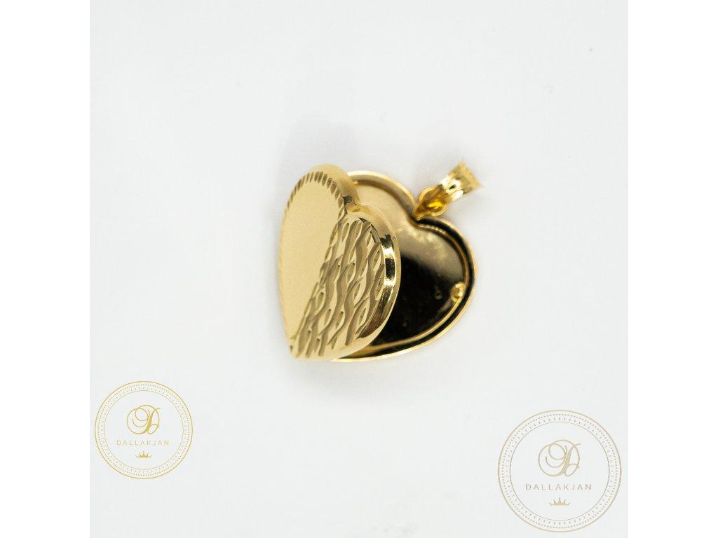 1116 privesek oteviraci srdce ze zluteho zlata