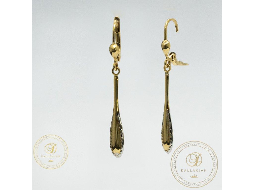 1176 nausnice z kombinovaneho zlata