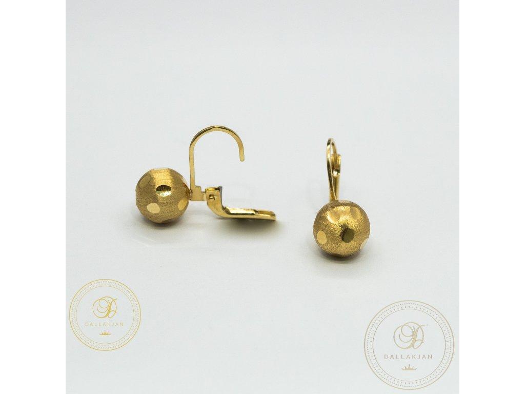 1215 nausnice ze zluteho zlata