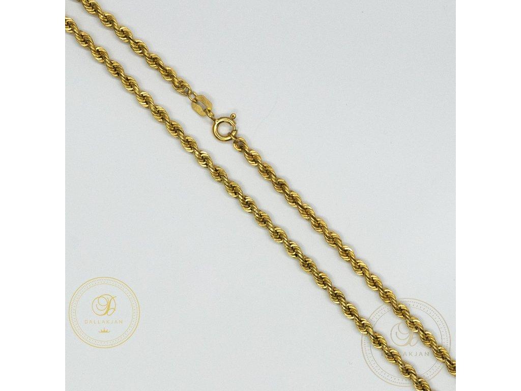 Dámský valisový zlatý řetízek ze žlutého zlata (Délka 45)