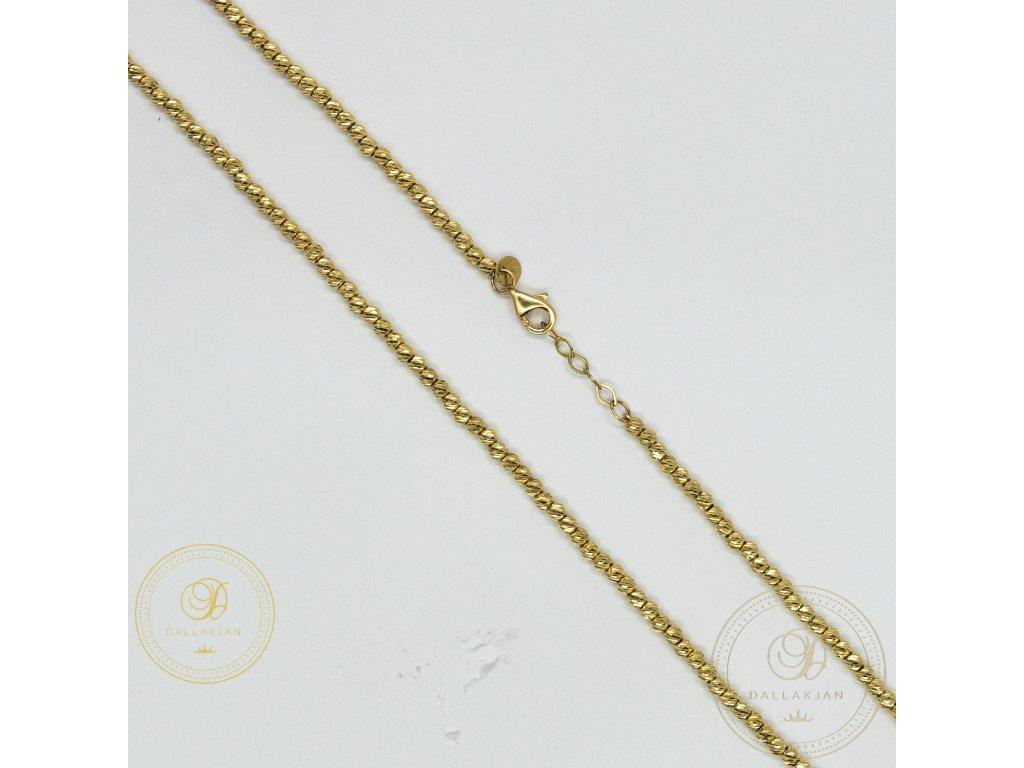 Dámský zlatý řetízek v podobě malých kuliček pospolu (Délka 44)