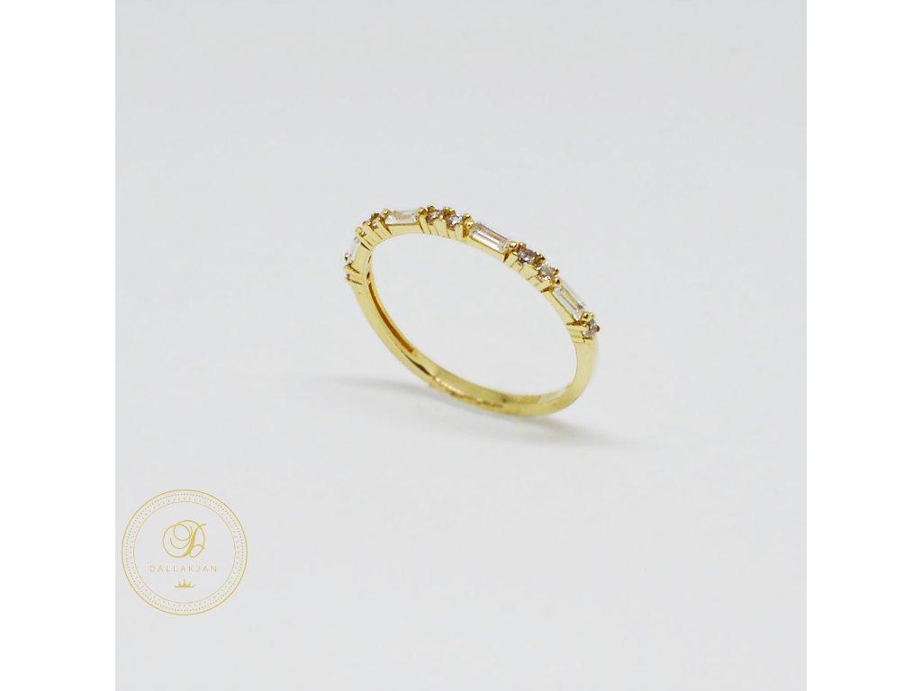 1472 prsten ze zluteho zlata se zirkony