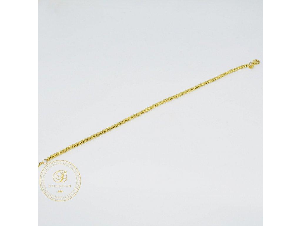 Náramek ze žlutého zlata (Délka 20 cm, Ryzost 585/1000)