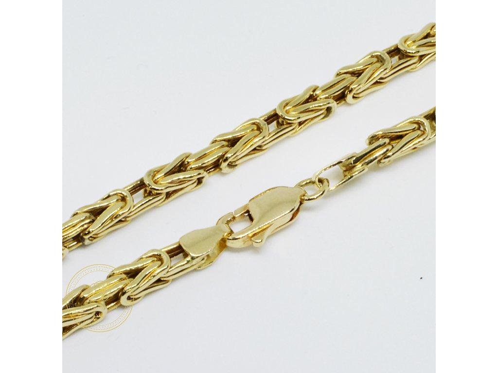 Řetěz ze žlutého zlata elegantní (Velikost v cm 61)