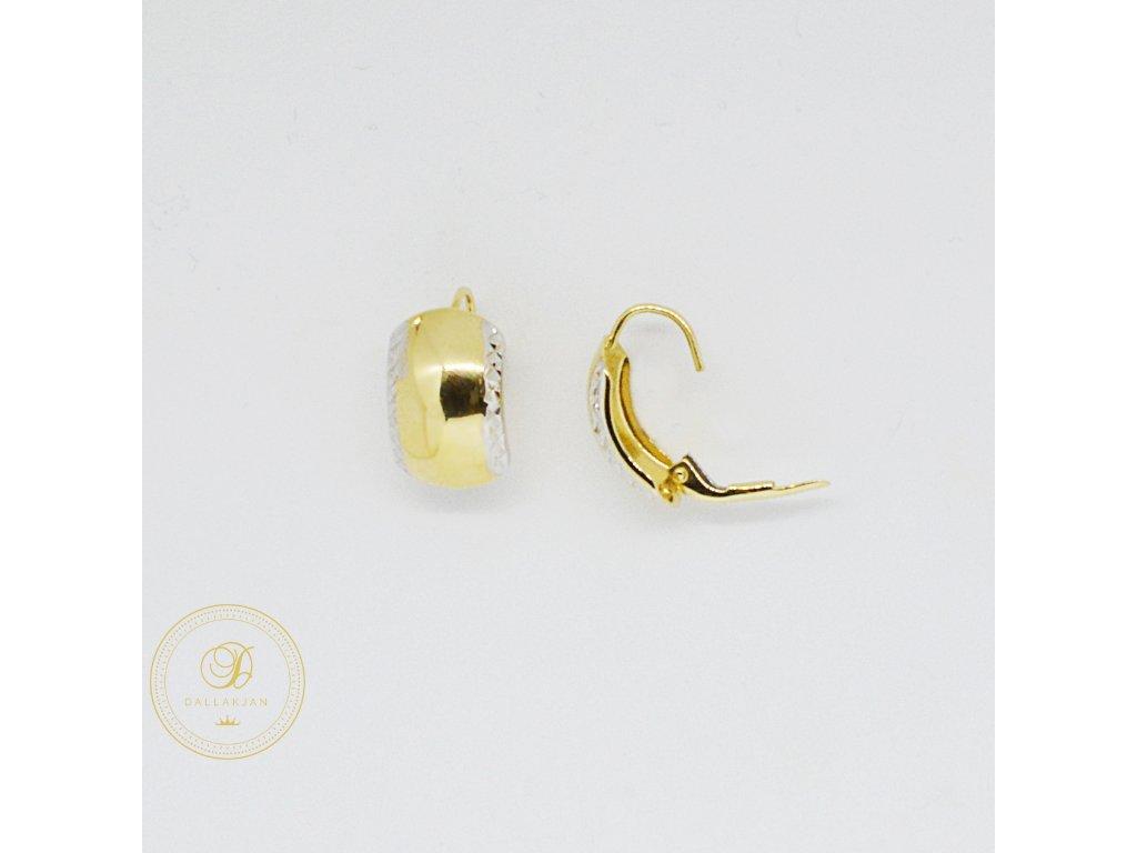 1745 nausnice z kombinovaneho zlata klasicke