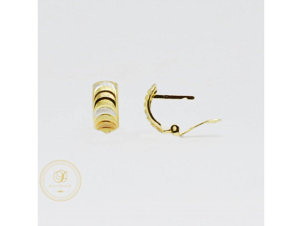 1769 nausnice z kombinovaneho zlata