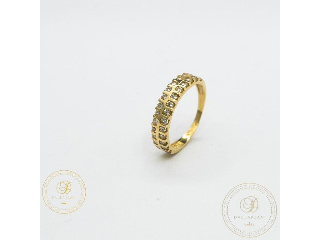 Decentní Dámský prsten zdoben zirkonem (Velikost 52)