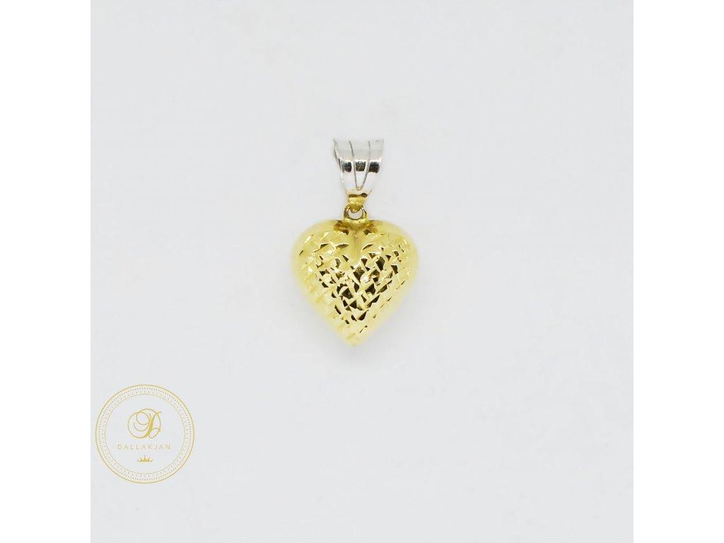 1961 privesek kombinovane zlato srdce
