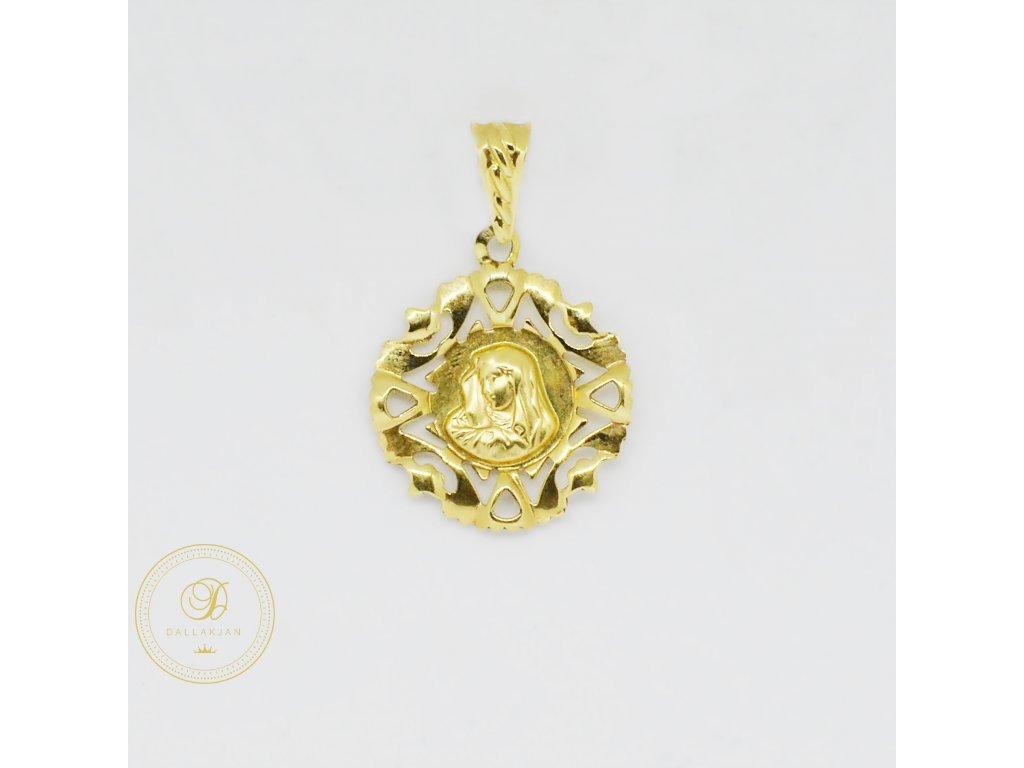 2000 privesek zlute zlato madona