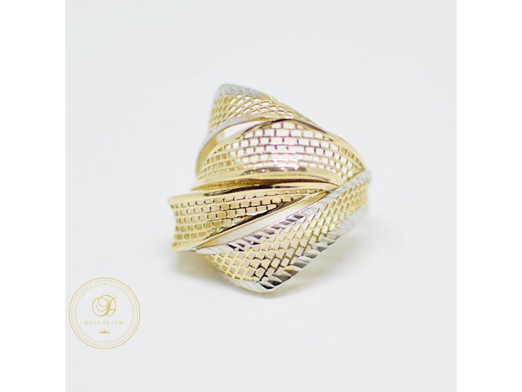 Prsten, kombinované zlato (Ryzost 585/1000, Velikost 51)