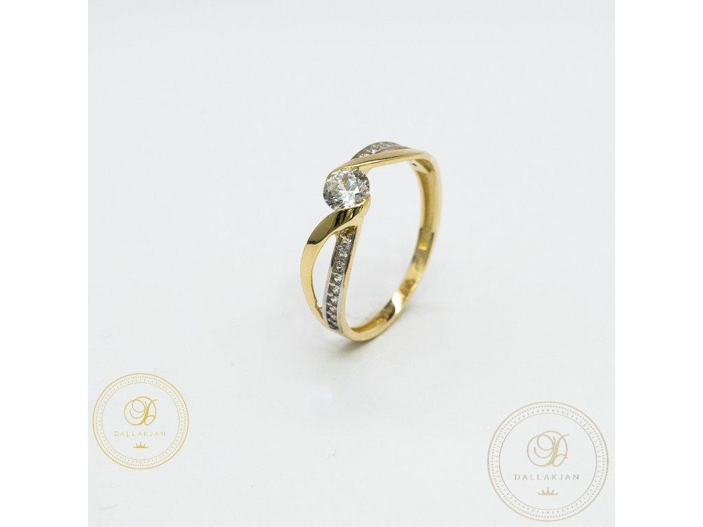 Decentní Zásnubní prsten se zirkonem (Velikost 56)