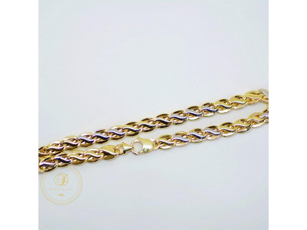 Náramek, kombinované zlato (Délka 21 cm, Ryzost 585/1000)