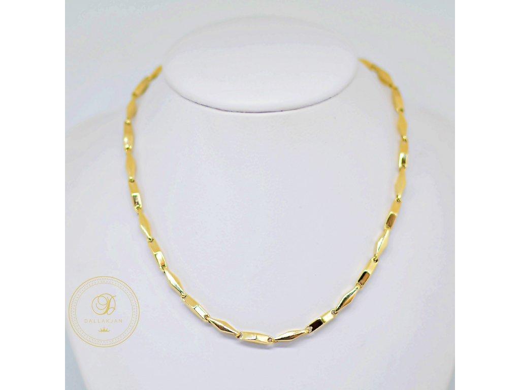 Náhrdelník Článkový, žluté zlato (Délka 55 cm, Ryzost 585/1000)
