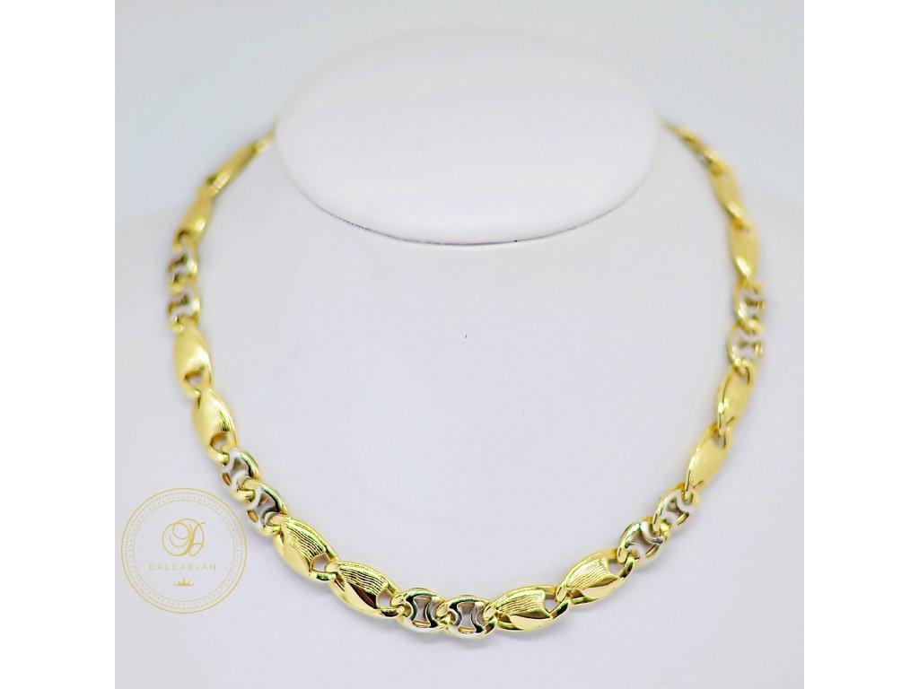Náhrdelník Článkový, kombinované zlato (Délka 50,5 cm, Ryzost 585/1000)
