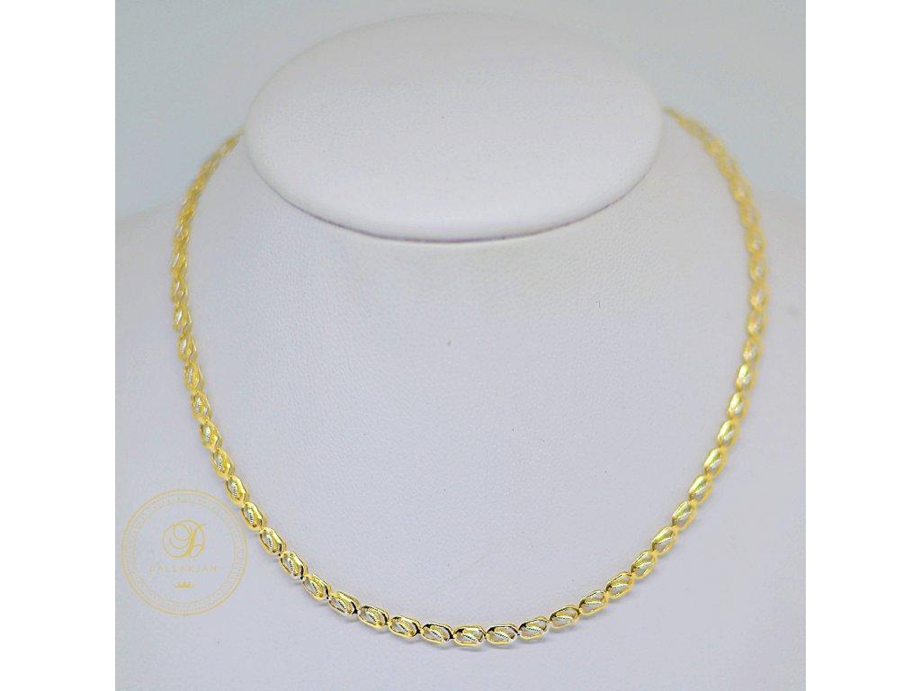 Náhrdelník Atyp, kombinované zlato (Délka 50 cm, Ryzost 585/1000)