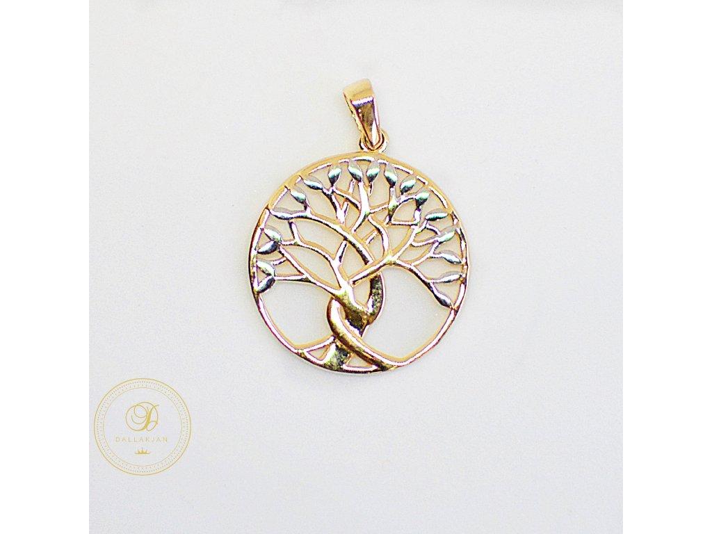 2120 privesek kombinovane zlato strom zivota
