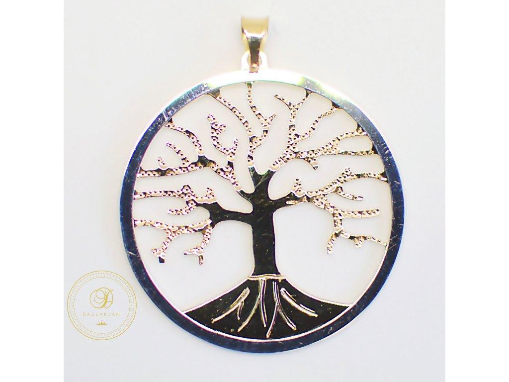 Přívěsek, kombinované zlato, strom života