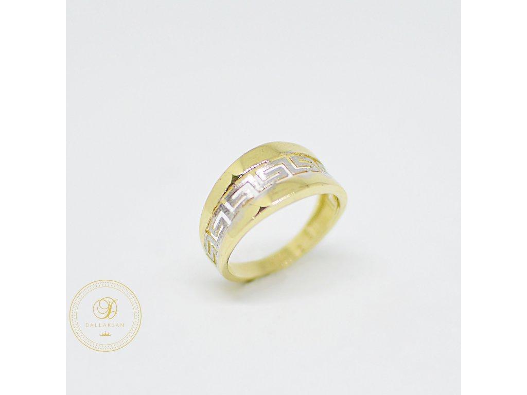Prsten, kombinované zlato, antický vzor (Ryzost 585/1000, Velikost 54)
