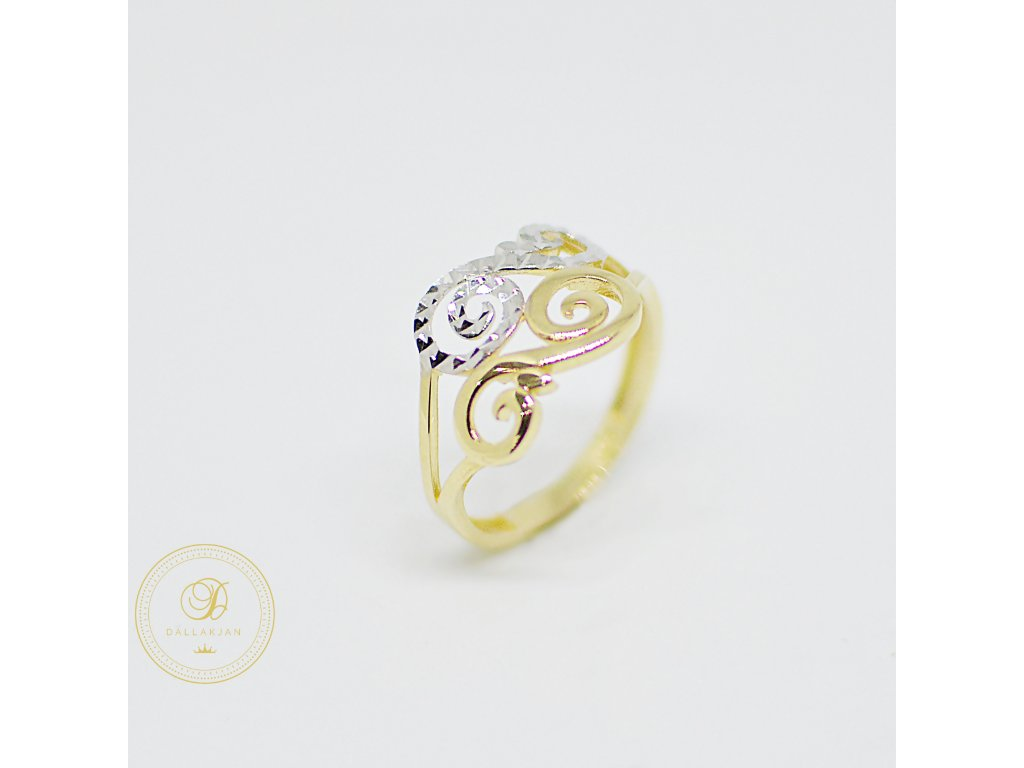 Prsten, kombinované zlato (Ryzost 585/1000, Velikost 58)