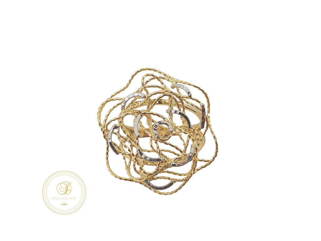 Prsten, kombinované zlato